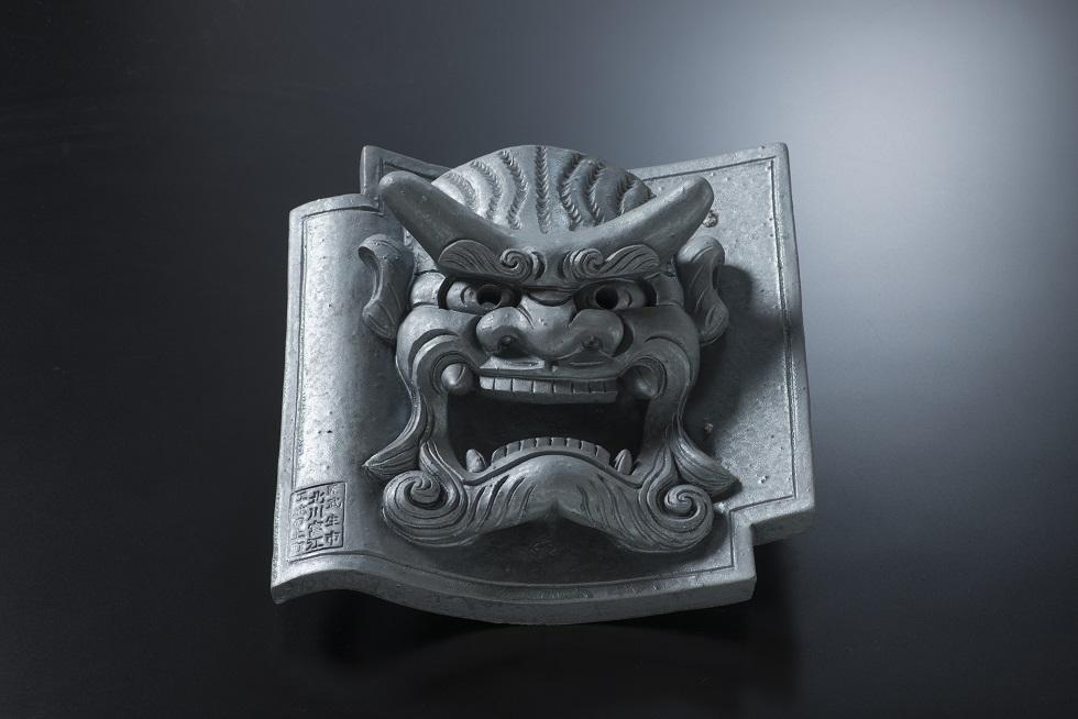 鬼面飾り(ハ)[和風置き物]