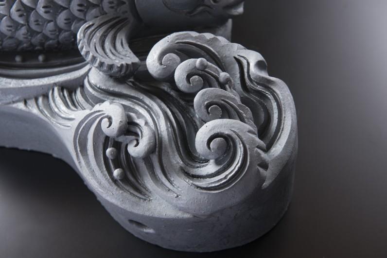 鯉 [すみ鬼瓦/和風置き物]