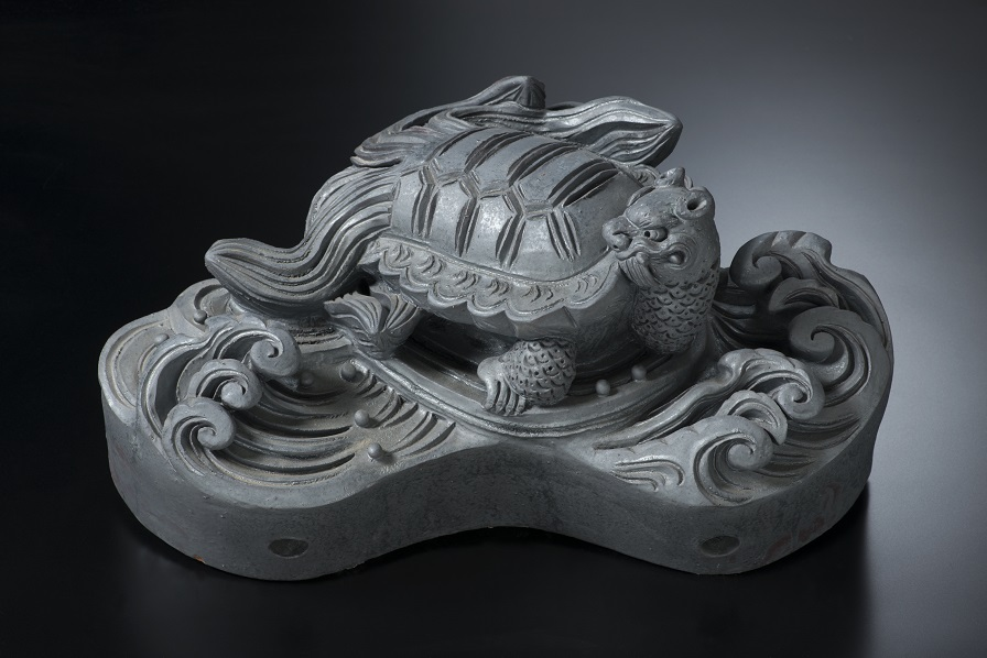 亀  [すみ鬼瓦/和風置き物]