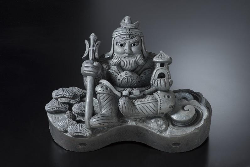毘沙門天隅鬼(イ)[鬼瓦/和風置き物]