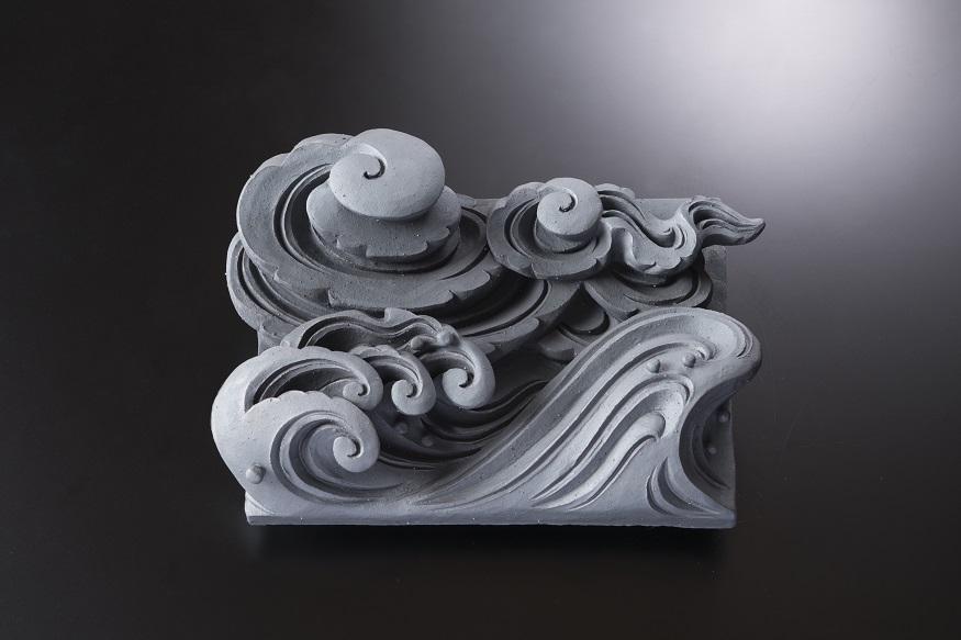 雲水(イ)[一枚土板/和風置き物]