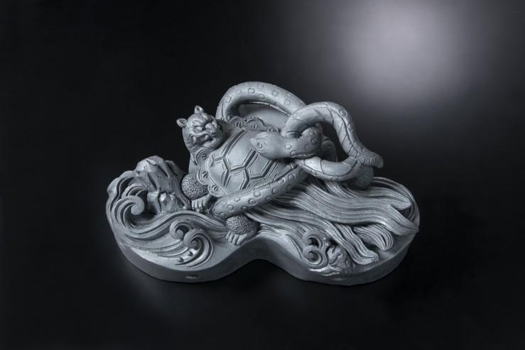 玄武すみ鬼(イ)[鬼瓦/和風置き物]
