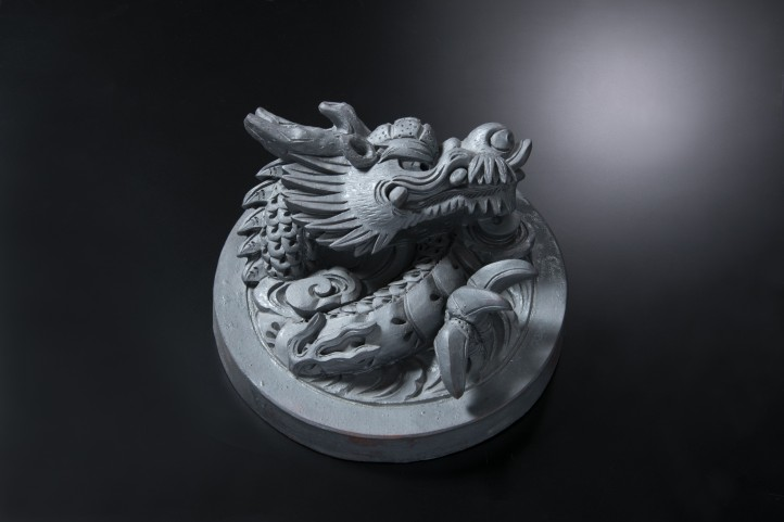 龍(ロ)[和風置き物]