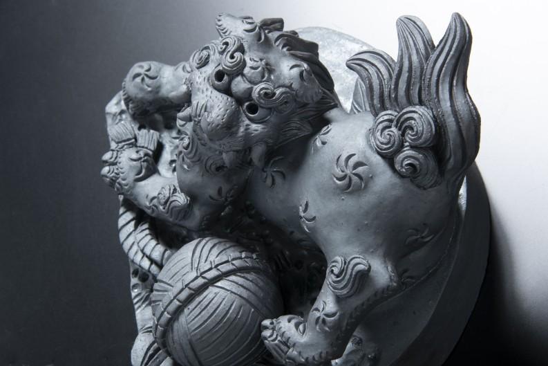 唐獅子(ロ)[和風置き物]