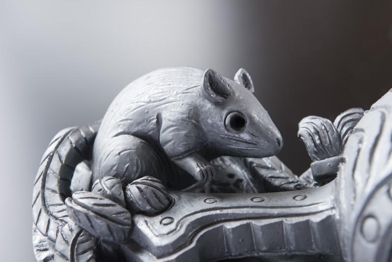 鼠すみ鬼[鬼瓦/和風置物]