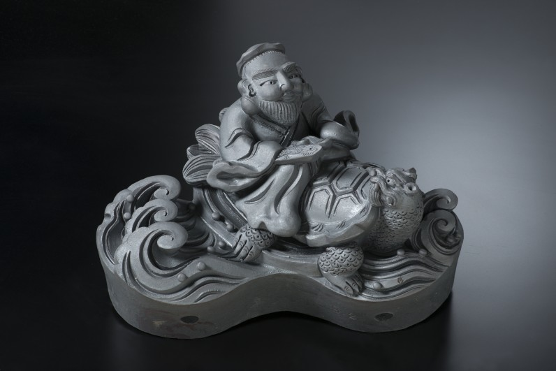 黄安仙人[すみ鬼瓦/和風置物]